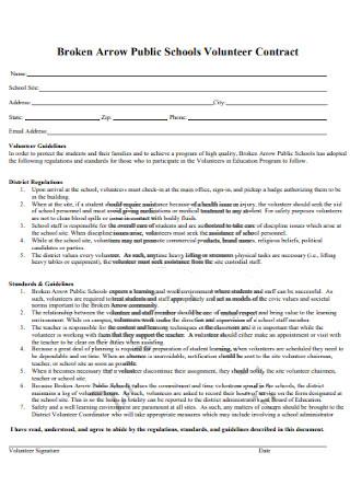 Public Schools Volunteer Contract