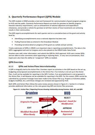 Quarterly Performance Report Module