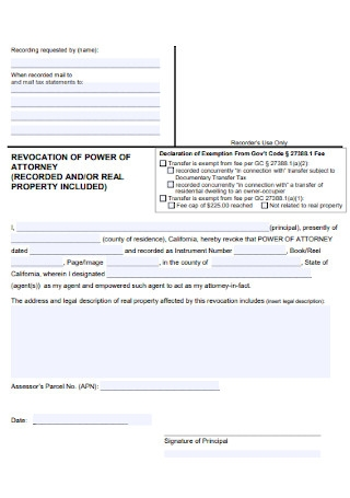 Real Property Revocation Power of Attorney