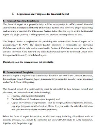 Regulation for Financial Report