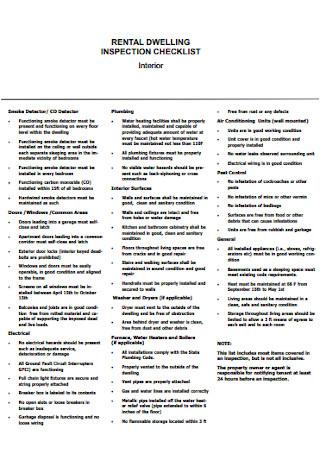 Rental Dwelling Inspection Checklist