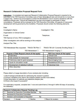 Research Collaboration Proposal Request Form