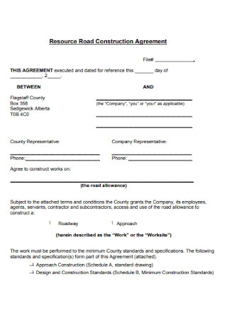 Resource Road Construction Agreement