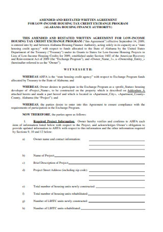 Restated Written Agreement