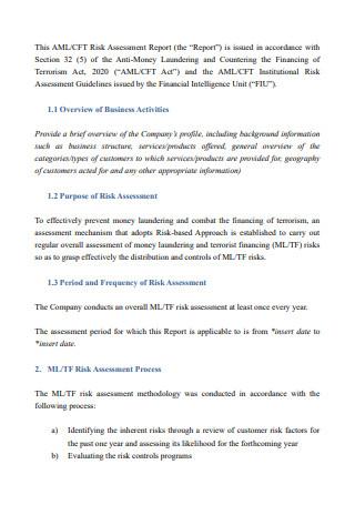 Risk Assessment Report in PDF