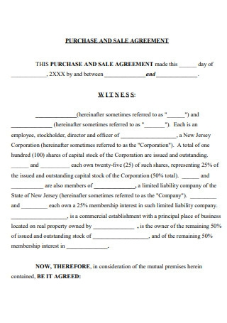 Sale and Purchase Agreement Format