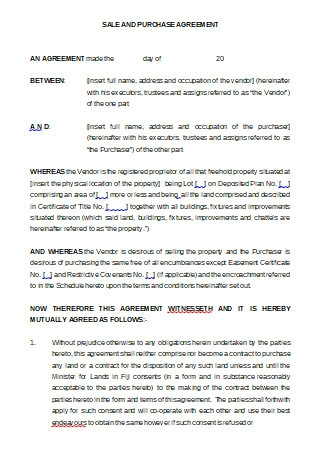 Sale and Purchase Agreement in DOC