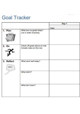 Sample Goal Tracker