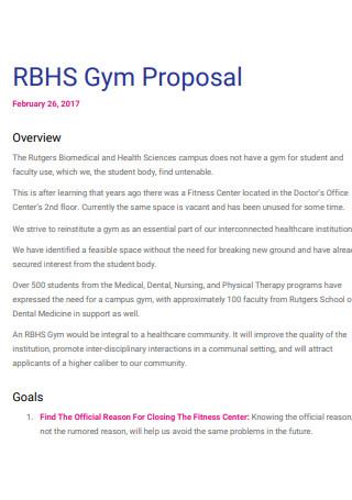Sample Gym Proposal