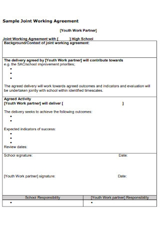 Sample Joint Working Agreement