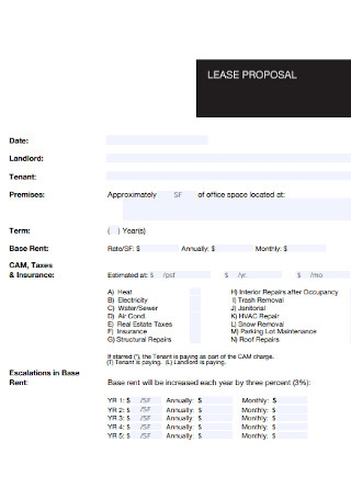 Sample Lease Proposal