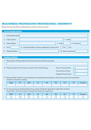 Sample Multimedia Proposal Form
