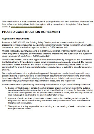 Sample Phased Construction Agreement