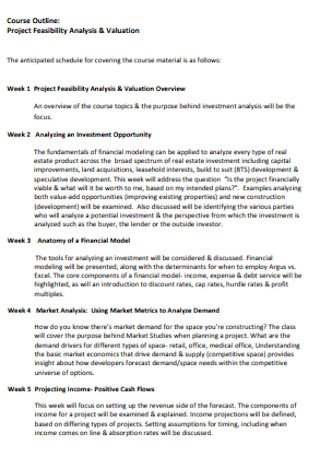 Sample Project Feasibility Analysis