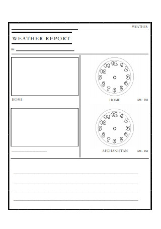 Sample Weather Report