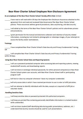School Employee Non Disclosure Agreement