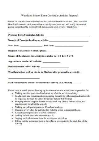 School Extra Curricular Activity Proposal