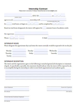 School Internship Contract