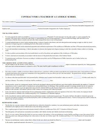 School Teacher Contract