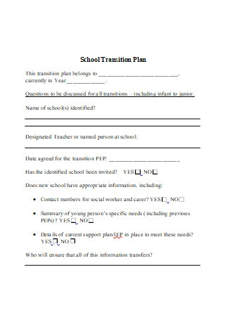 School Transition Plan