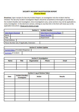 Security Incident Investigation Report