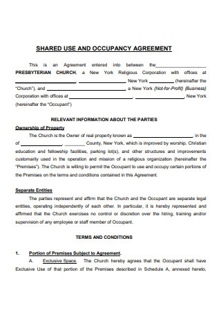 Shared and Occupancy Agreement