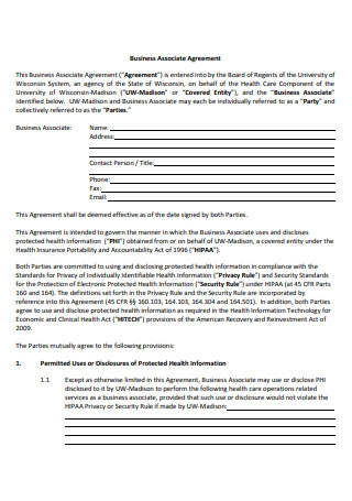 Simple Business Associate Agreement