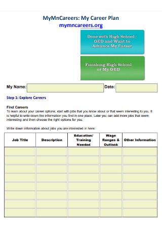 Simple Career Plan