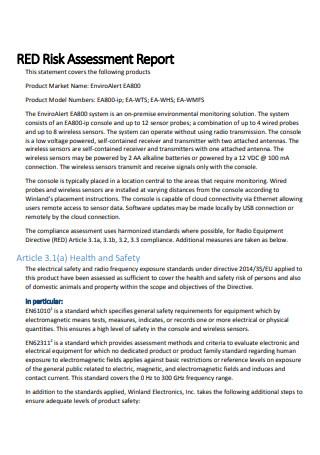 Simple Risk Assessment Report