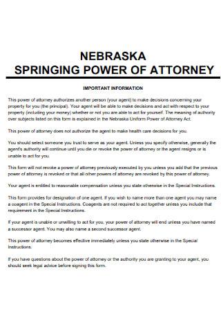 Simple Springing Power of Attorney