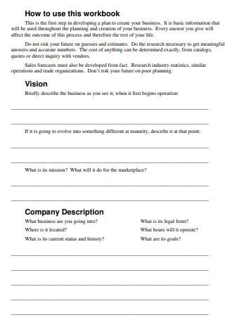 Small Business Plan Workbook