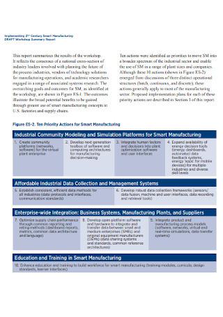 Smart Workshop Manufacturing Report