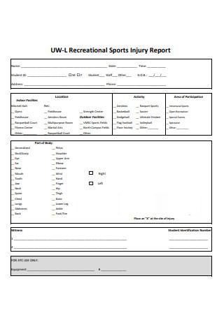 Sports Injury Report