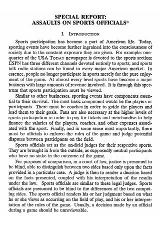 Sports Report in PDF