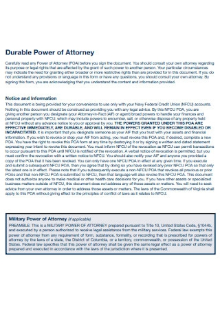 Springing Durable Power of Attorney
