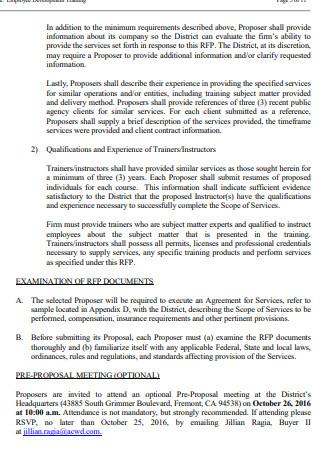 Staff Training Proposal