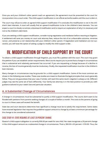 Standard Child Support Modification