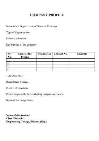 Standard Company Profile