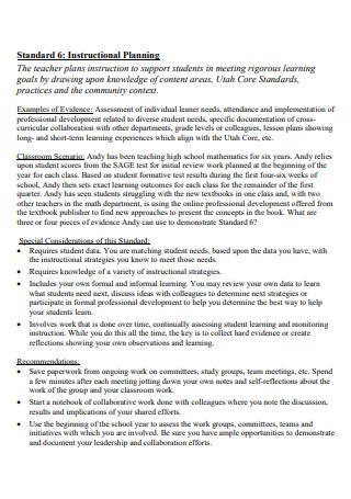 Standard Instructional Planning1
