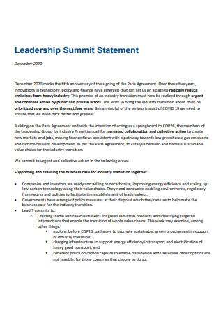 Standard Leadership Statement