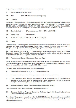 Standard Multimedia Proposal