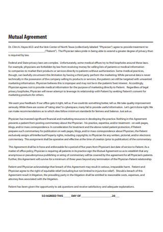 Standard Mutual Agreement