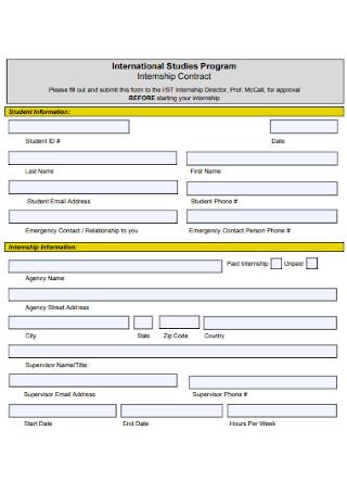 Studies Internship Contract