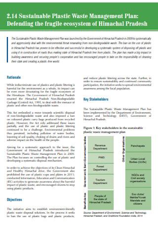 Sustainable Plastic Waste Management Plan