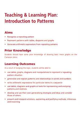Teaching and Learning Plan