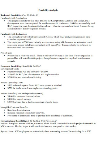 Technical Feasinbility Analysis