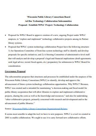 Technology Collaboration Proposal