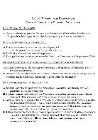 Theater Arts Department Proposal