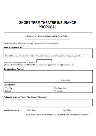 Theater Insurance Proposal