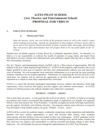 Theater and Entertainment Proposal